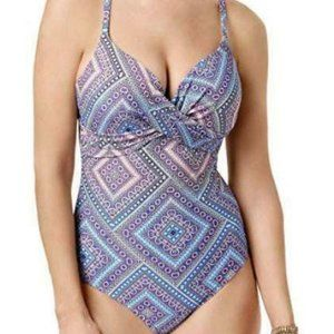 Island Escape Capadocia Pushup Swimsuit Blue 839